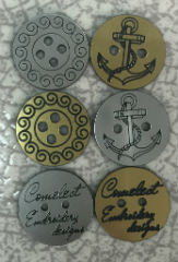 Laser cut & engraving accessory, buttons and magnets
